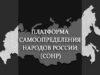 ПЛАТФОРМА САМООПРЕДЕЛЕНИЯ НАРОДОВ РОССИИ (СОНР)