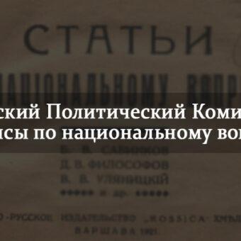 Русский Политический Комитет — тезисы по национальному вопросу